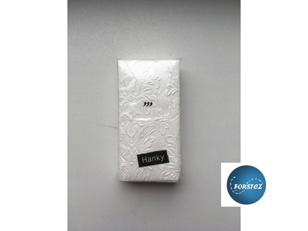 Svatební papírové kapesníčky 10 ks. - ORNAMENT PEARL