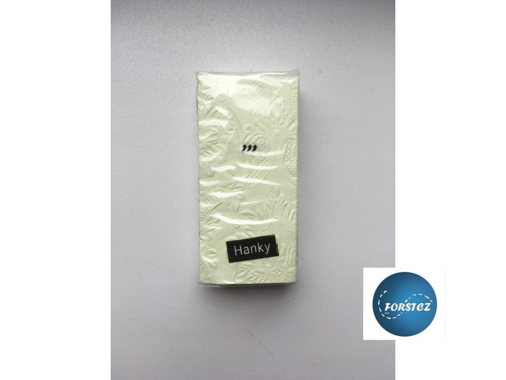 Svatební papírové kapesníčky 10 ks. - ORNAMENT GREEN