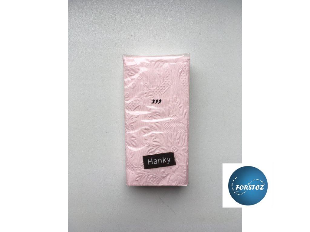 Svatební papírové kapesníčky 10 ks. - ORNAMENT PINK