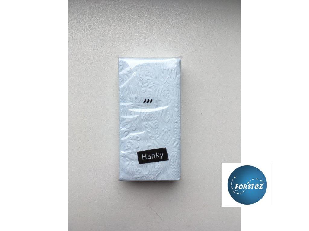 Svatební papírové kapesníčky - ORNAMENT BLUE