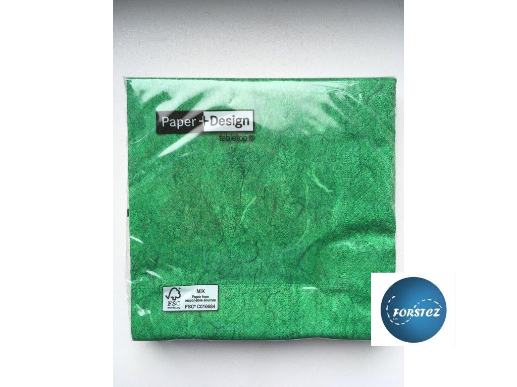 Ubrousky PURE FERN GREEN - 20ks 33x33 cm