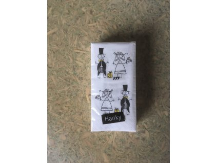 Svatební  papírové kapesníčky - JUST MERRIED